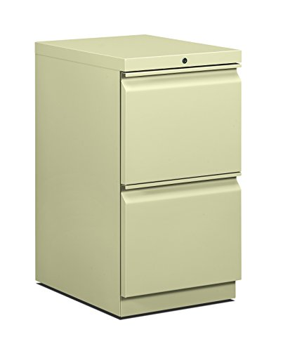 HON 33820RL 19-7/8-Inch Efficiencies Mobile Pedestal File with 2 File Drawers, Putty ()
