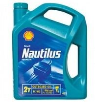 SHELL NAUTILUS PREMIUM OUTBOARD LEISURE MARINE 2 STROKE ENGINE OIL 4LTR 550020180