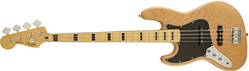 Squier by Fender 306722521 Vintage Modified Jazz Bass '70s, LH, Natural (Modified Vintage Series)