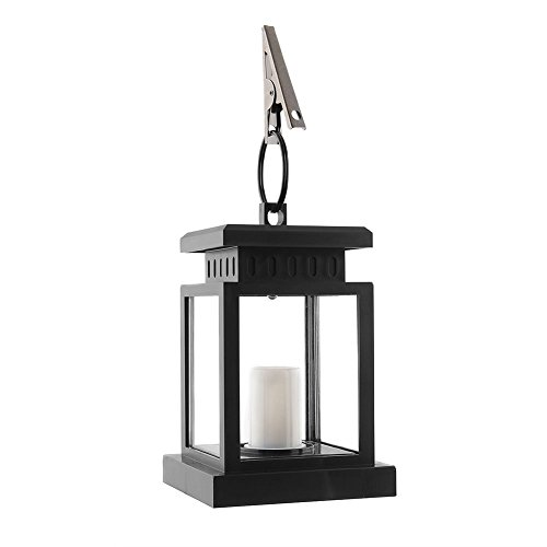 YINGHAO Warm White Solar Mission Lantern, Vintage Solar Powered Waterproof Hanging Umbrella Lantern Decoration Candle Lights Led with Clamp Beach Umbrella Tree Pavilion Garden Yard Lawn Etc.