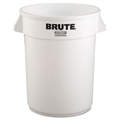 Rubbermaid Commercial BRUTE Trash Can, 32 Gallon, White, FG263200WHT by Rubbermaid Commercial Products