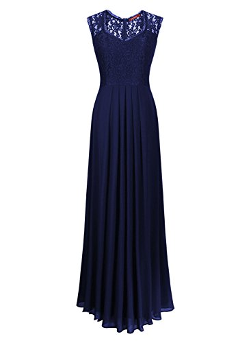 Pizzo Coctel Donna Vestito Vintage Miusol Blu Lungo gpwx0EZn5