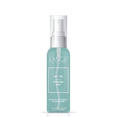 L'ange Hair Salt Sea Texturizing Spray - Sea Salt Spray for Hair Texture UV Protectant Light Hold Hair Spray with Natural Kelp Extract for Bouncy Beachy Waves, Voluminous Texturizer - 4 oz MSRP $20