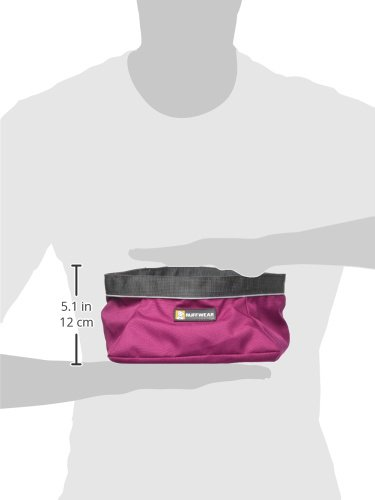 Image of RUFFWEAR - Quencher Waterproof, Collapsible Dog Bowl, Purple Dusk, Large
