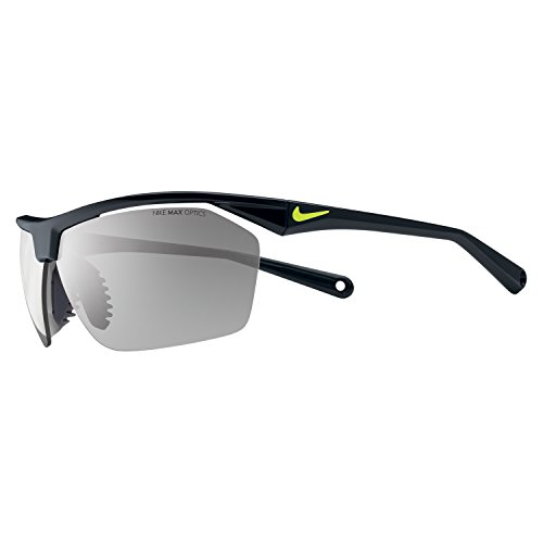 Nike Tailwind 12 Sunglasses, Black/Voltage, Grey with Silver Flash - Sunglases Sports