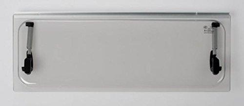 Vetro di ricambio 468x232 per finestra camper Seitz 500x300 - colore Grigio - compresi accessori NRF srl