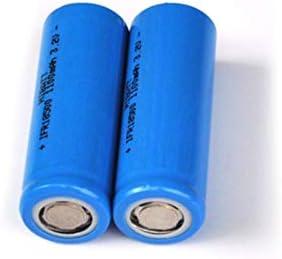 FCQLR Compatible para 2PCS 3.2V 18500 Rechargeable Lithium batería LiFePo4 Cell 1100mah para Solar LED Light