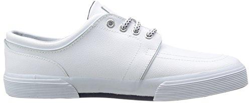 Polo Ralph Lauren Mens Cuoio Faxon Moda Sneaker In Pelle Bianca Dello Sport