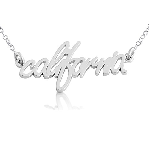 925-sterling-silver-california-state-handwritten-script-necklace-usa-ca-14-inches