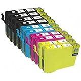 T1636 KIT 10 Cartucce Compatibili Nero+Colori Per Epson T1631-T1634 WorkForce WF-2760 DWF