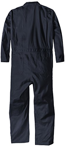 Bulwark Flame Resistant 9 oz Twill Cotton Long Premium Concealed Snap Coverall, Navy, 48 Long by Bulwark FR (Image #2)