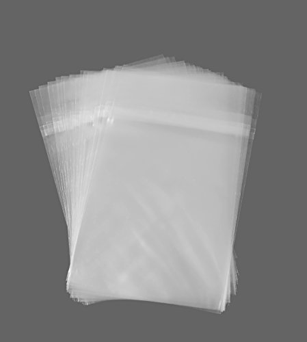 Golden State Art, Pack of 100 5 1/4 X 7 1/8 Clear Bags for 5x7 Photo Mats