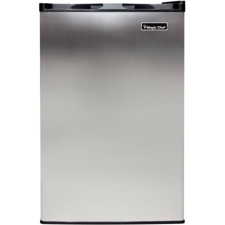 Magic Chef 3.0 cu ft Compact Upright Freezer, Stainless Steel