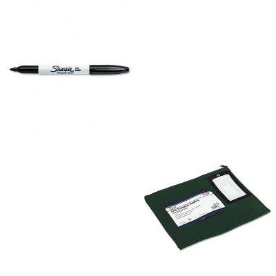KITPMC04648SAN30001 - Value Kit - Pm Company Flat Dark Green Transit Sack (PMC04648) and Sharpie Permanent Marker (SAN30001)