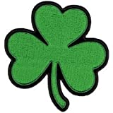 """Hot Leathers Shamrock Patch (4"""" Width x 4"""" Height)"""