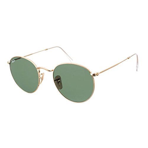 Ray-Ban ROUND METAL - ARISTA Frame CRYSTAL GREEN Lenses 50mm - Bans Wayfarer Gold Ray