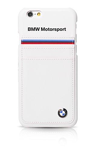BMW BMHCP6SHSW Motorsport Collection Horizontal Tricolor Streifen harte Schutzhülle mit Kartenslots für Apple iPhone 6/6S 11,4 cm (4,7 Zoll) weiß