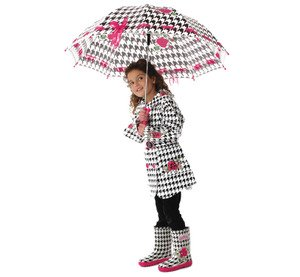 Kidorable English Roses Raincoat, Houndstooth, 2T