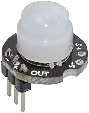 MH一SR602 Mini Sensor Detector de Movimiento Módulo PIR Infrarrojo PIR Kit Interruptor sensorial Soporte para arduino DIY con Lente: Amazon.es: Electrónica