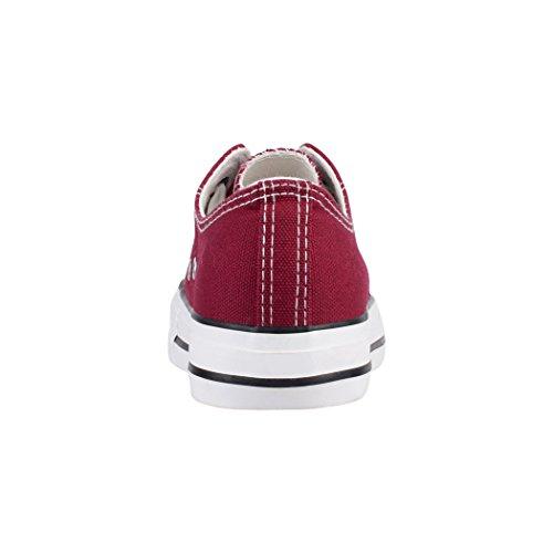 Baskets Elara Aus Nummer Loisirs Eine Chaussures Größer Fällt Basic Sport Lacets de Basic Low Wine Femmes 5SqrgxZwSB