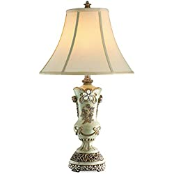OK Lighting Vintage Table Lamp, Rose