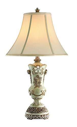OK Lighting Vintage Table Lamp, Rose