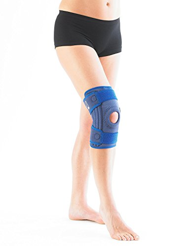 Neo G Knee Brace, Stabilized Open Patella - Support For Arthritis, Joint Pain, Meniscus Tear, ACL, Running, Basketball, Skiing – Adjustable Compression – Class 1 Medical Device – One Size – Blue by Neo-G (Image #3)