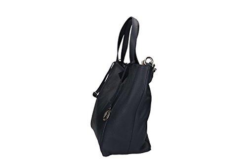 2575071b2650c ... Tasche damen mit schultergurt PIERRE CARDIN blau leder Made in Italy  VN641 ...