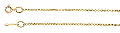 1.5mm 14k Yellow Gold Rolo Chain, 30