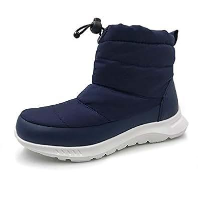 AMOJI Kids Snow Boots Shoes Child Children Toddler Boys Girls Kid Navy 1-1.5 Little Kid