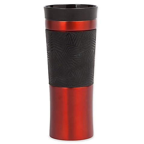 17 oz. Dash 360° Push Coffee Mug in Red - Double Wall Stainless Steel Insulated, Leak Proof, Lead- and BPA-Free