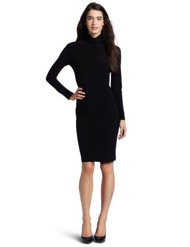 KAMALIKULTURE Women's Turtleneck Dress,Black,Medium by KAMALIKULTURE