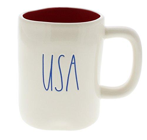 Rae Dunn by Magenta USA Ceramic LL Coffee Mug Red Interior