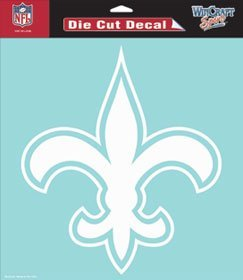 "NFL New Orleans Saints WCR25675061 Perfect Cut Decals, 8"" x"