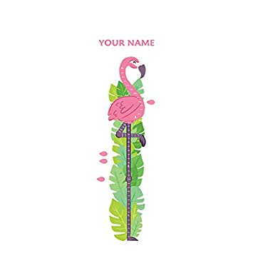 Amazon Personalized Flamingo Growth Chart Wall Decal For