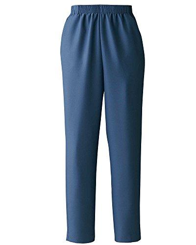 Donnkenny Elastic-Waist Gabardine Pull-On Pants, Denim Blue, ()