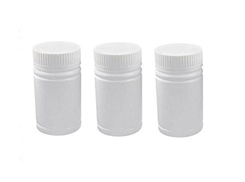 (60ml 2oz Portable Empty White Plastic Bottles Pill Solid Powder Medicine Chemical Bottles Pill Tablet Holder Storage Container Case Box (24PCS))