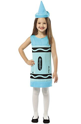 Sky Blue Crayon Costume (Rasta Imposta Crayola Tank Dress, 4-6, Sky Blue)