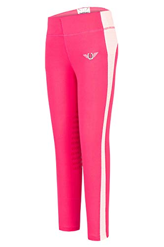 TuffRider Children's Ventilated Schooling Riding Tights|Color-HotPink|Size-Small