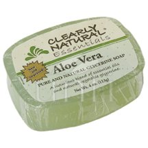 (Clearly Natural Glycerine Bar Soap Aloe Vera, 4 oz, 4pack)