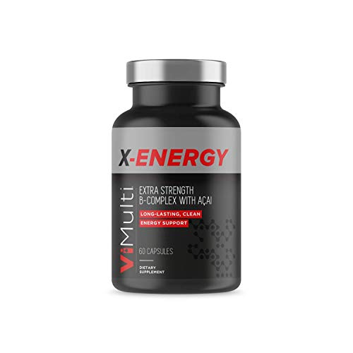 (ViMulti X-Energy Extra Strength Vitamin B Complex with Acai | Long Lasting Energy Support | Provides Natural Energy Boost and Eliminates Fatigue. No Jitters and No Crashes with these Energy Capsules)