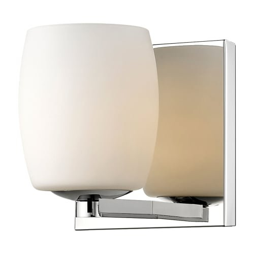 Access Lighting Serenity Vanity - Mirrored Stainless Steel Finish with Opal Glass Shade