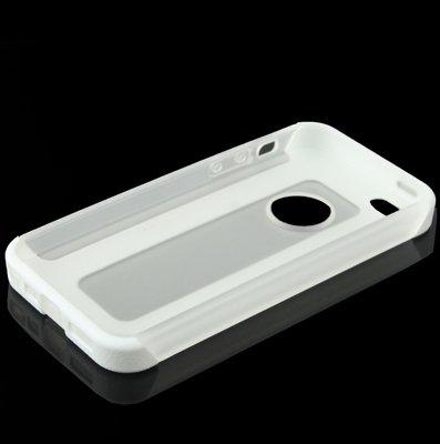 Iphone hülle, 2-farbiger Kunststoff-Schutzrahmen + Translucent TPU Case für iPhone 5 & 5s & SE & SE rutschsicher Telefon-Kasten ( Color : White )