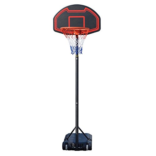 Ferty Basketball System Portable Height Adjustable Pro Shooting Sports Basketball Goal Hoop for Youth-28 Inch Shatterproof Backboard [US STOCK]
