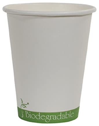 """IFN Green 30-1008 Paper/PLA Hot Cup, 8 oz Capacity, 3.0"""" Length x 3.0"""" Width x 3.8"""" Height (Case of 1000)"""