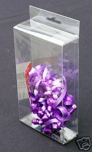 50 PCS 4x1.5x7 Plastic Box W/ Hang Hole Retail Display