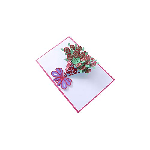 Greeting Card3D Pop Up Cards Valentine Lover Happy Birthday Anniversary Greeting Cards for Birthday Valentine Holiday,As - Bar Chai Mitzvah