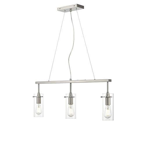 Effimero 3 Light Kitchen Island Hanging Fixture, Brushed Nickel, Linea di Liara LL-P331-BN by Linea di Liara (Image #2)
