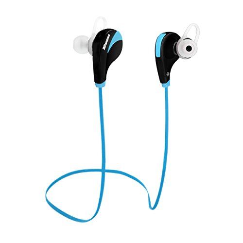 bluetooth headphones tosheng in ear wireless hands free phone earphone sport earbuds blue. Black Bedroom Furniture Sets. Home Design Ideas