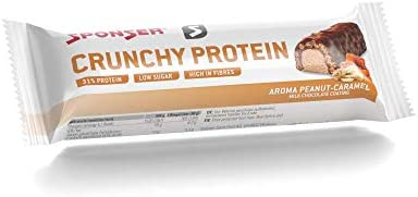 Sponser Crunchy Protein Bar 12 x 50g im Display Geschmack Peanut-Caramel Milk Chocolate